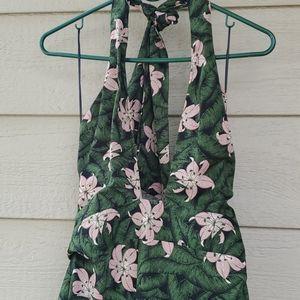 Topshop floral halter midi dress NWT